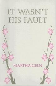 Cover of: It Wasn't His Fault