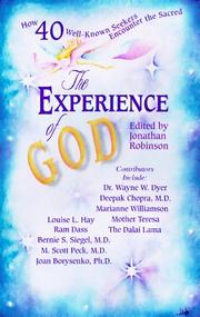 Cover of: The experience of God |