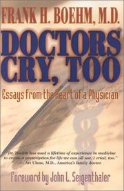 Cover of: Doctors Cry, Too