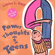 Cover of: Power Thoughts for Teens Cards (Card Decks for Teens)