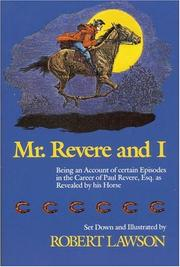 Cover of: Mr. Revere and I