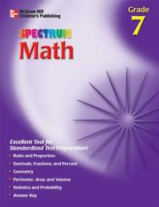 Cover of: Spectrum Math, Grade 7 | Thomas Richards