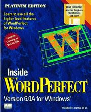 Cover of: Inside WordPerfect 6 for Windows