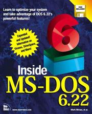 Cover of: Inside MS-DOS 6.22