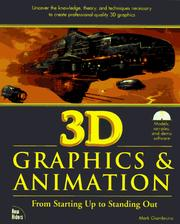 Cover of: 3D graphics and animation | Mark Giambruno