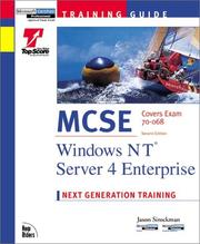 Cover of: MCSE Training Guide