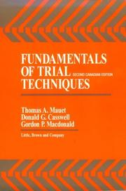 Cover of: Fundamentals of trial techniques