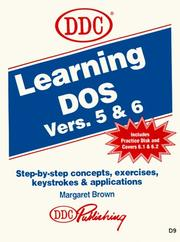 Cover of: Learning DOS | Brown, Margaret.