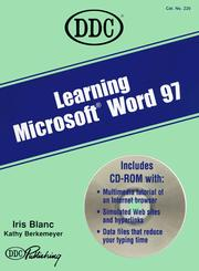Cover of: Learning Microsoft Word 97 (Learning Series)