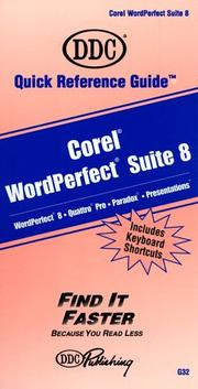 Cover of: Corel Wordperfect Suite 8 Professional (Quick Reference Guides (DDC))