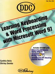 Cover of: Learning Keyboarding and Word Processing with Microsoft Word 97 (Learning) | DDC Publishing
