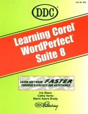 Cover of: Learning Corel WordPerfect  Suite  8 (Learning Series) | DDC Publishing