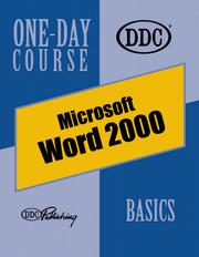 Cover of: Word 2000, Basics One-Day Course (One Day Course)