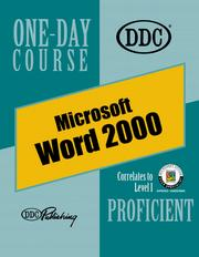 Cover of: Word 2000, Proficient One-Day Course (One Day Course)