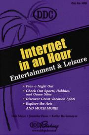 Cover of: Internet in an Hour Entertainment and Leisure (Internet in An Hour)