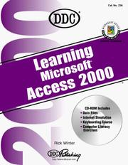 Cover of: Learning Microsoft Access 2000