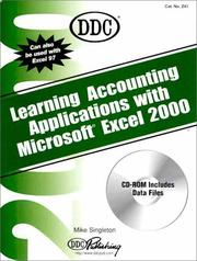 Cover of: Learning Accounting Applications with Microsoft Excel 2000