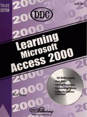 Cover of: Learning Access 2000