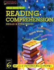 Cover of: Reading Comprehension Skills & Strategies Level 6 (Highinterest Reading Comprehension Skills & Strategies)