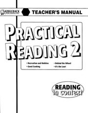 Cover of: Practical Reading 2 Teacher's Manual (Reading in Context)