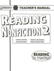 Cover of: Reading Nonfiction 2 Teacher's Manual (Reading in Context)