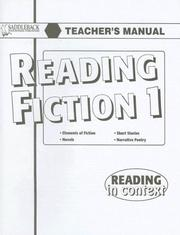 Cover of: Reading Fiction 1 Teacher's Manual (Reading in Context)