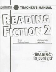 Cover of: Reading Fiction 2 Teacher's Manual (Reading in Context)
