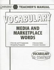 Cover of: Media and Marketplace (Vocabulary in Context)