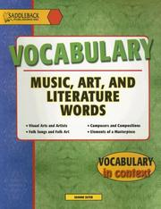 Cover of: Music, Art and Literature (Vocabulary in Context)