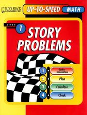 Cover of: Story Problems Worktext 1, Level 3 to 4 (Uptospeed Math Story Problems)