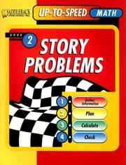 Cover of: Story Problems Worktext 2, Level 5 to 6 (Uptospeed Math Story Problems)