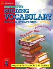 Cover of: Building Vocabulary Skills and Strategies Level 5 (Highinterest Building Vocabulary Skills & Strategies)