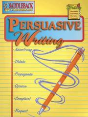 Cover of: Persuasive Writing (Writing 4)