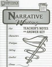 Cover of: Narrative Teacher Notes (Writing 4 Series)