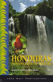 Cover of: Adventures in Nature Honduras (Adventures in Nature) | James D. Gollin