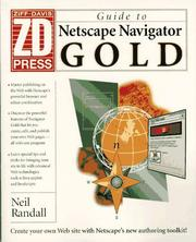 Cover of: Guide to Netscape Navigator Gold