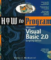 Cover of: How to program Microsoft Visual Basic