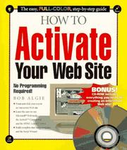 Cover of: How to activate your Web site | Bob Algie