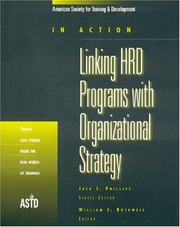 Cover of: Linking HRD programs with organizational strategy |