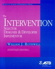Cover of: The Intervention Selector, Designer, & Developer (Quick Reference Guides (DDC))