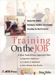 Cover of: Training On the Job | Diane Walter