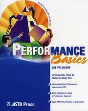 Cover of: Performance Basics (ASTD Training Basics)