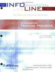 Cover of: Managing Training Projects (Infoline)