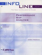 Cover of: Performance Gap Analysis