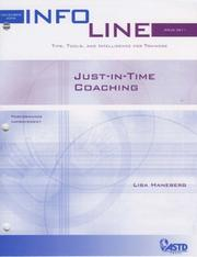 Cover of: Just-In-Time Coaching (Infoline)