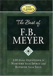 Cover of: The Best of F. B. Meyer