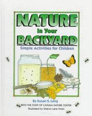 Cover of: Nature in your backyard | Susan Lang