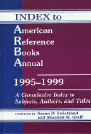 Cover of: Index to ARBA 1995-1999 (Index to American Reference Books Annual)