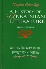 Cover of: A history of Ukrainian literature