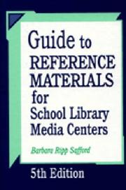 Cover of: Guide to reference materials for school library media centers | Barbara Ripp Safford